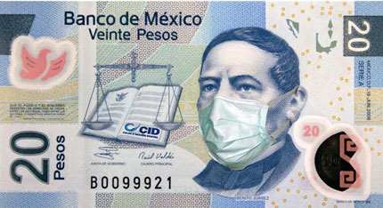 billete-mexico-gripe-influenza-porcina